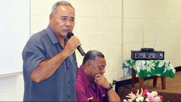 Gov. Lolo Matalasi Moliga and Lt. Gov. Lemanu Palepoi Sialega Mauga [