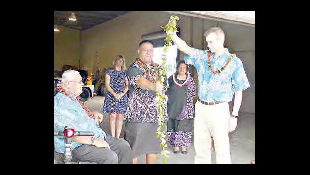 Hawaiian blessing ceremony.