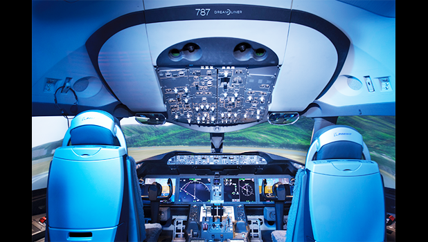 A CAE Boeing 787-9 full-flight simulator