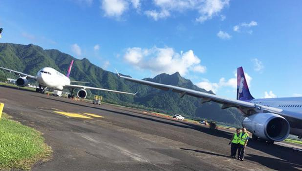 HAL plans on the tarmac at Pago Pago Int'l Airport
