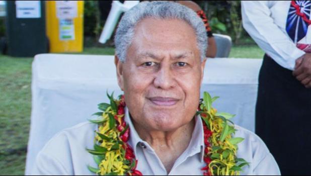 Head of State, Highness Tuimaleali'ifano Va'aletoa Sualauvi II.
