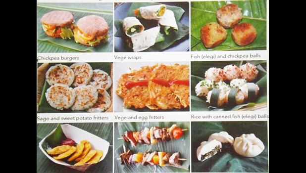 Examples of healthy eating options in the FAO program