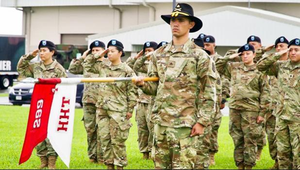 Soldiers in Hilo at deployment ceremony Friday