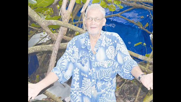 William Reader, a homeless man who lives out of a tent on the side of the main road in Nuuuli. [photo AF]