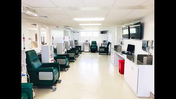 A Hope Dialysis Center treatment room.