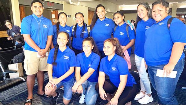 Group photo of HOSA participants from American Samoa