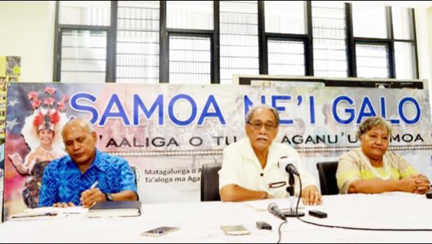 WE NEED OUR SAMOAN LANGUAGE: Rev. Lavilavi Soloi, Rev. Vaiao Alailima Eteuati and Makerita Asiata. (Photo: Aruna Lolani/ Samoa Observer))