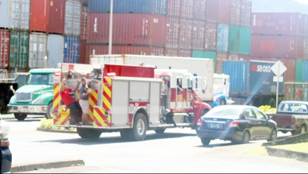 Traffic on Thursday going by Port