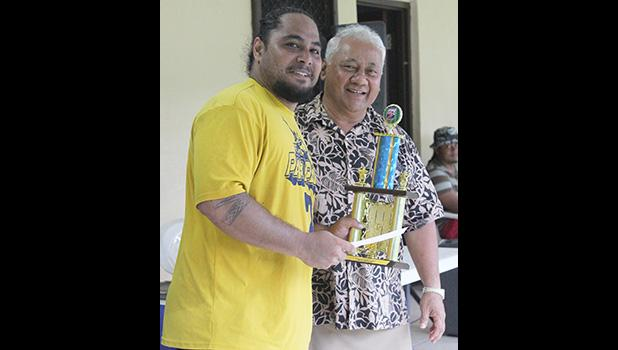 Pago Youth's Rambo Tapui with Sen. Faiivae Iuli Alex Godinet