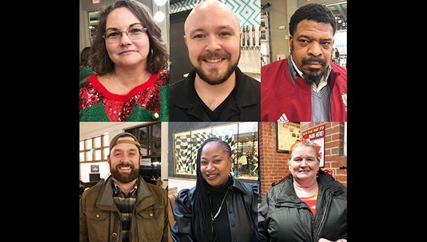 This combination of photographs shows, top row from left: Aimee Brewer, Ben Bolen, Mark McQueen, bottom row from left: Morgan O'Sullivan, Natasha Adams, Alice Cutting, Wednesday, Dec. 18, 2019