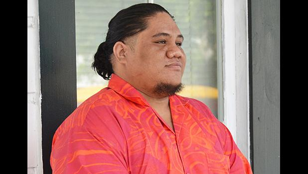 Iosefo Alo as he arrived at the court house on the first day of his trial.