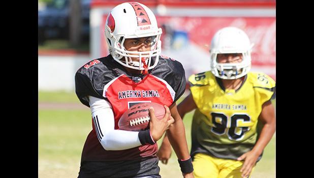JPS Vikings quarterback scrambling for a huge gain