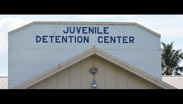 Juvenile Detention Center sign