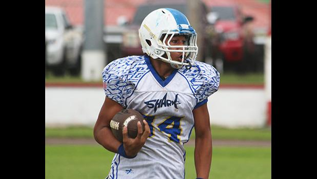 The 8th grader safety for the Samoana Sharks, Vaifanua Peko-Vai