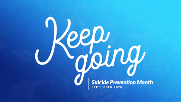 Keep Going — Suicide Prevention Month graphic
