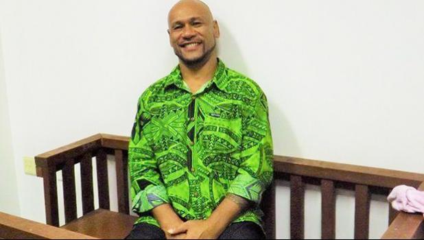 Malele Atofu, aka King Faipopo, sitting in court
