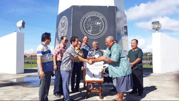Deputy Consul of South Korea Yoon Hyun -Chul with American Samoa veterans and officials
