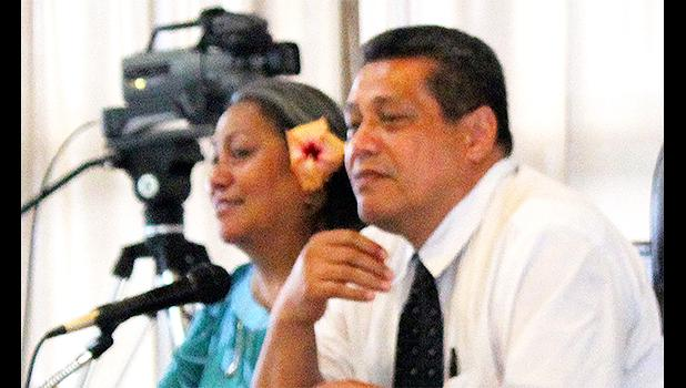 LBJ Medical Center head of pharmacy, Dr. Evelyn Ahhing-Faaiuaso and chief of internal medical, Dr. Seakerise Tuato'o