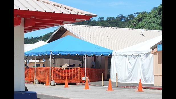 LBJ Hospital triage tents