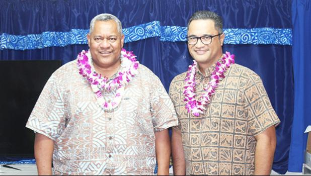 Gov. Lemanu Peleti Palepoi Sialega Mauga  and Lt. Gov. Talauega Eleasalo Va'alele Ale