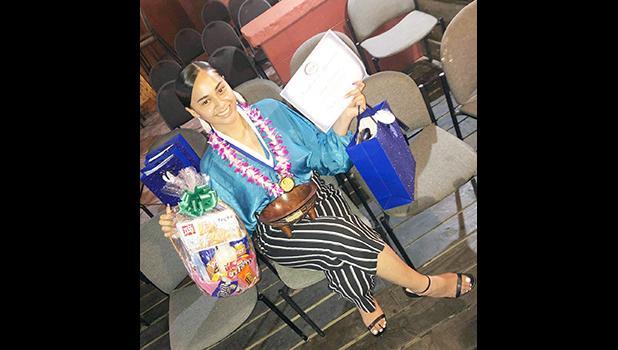 Lessei Perelini with her awards