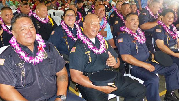 Majors honored at a DPS ceremony
