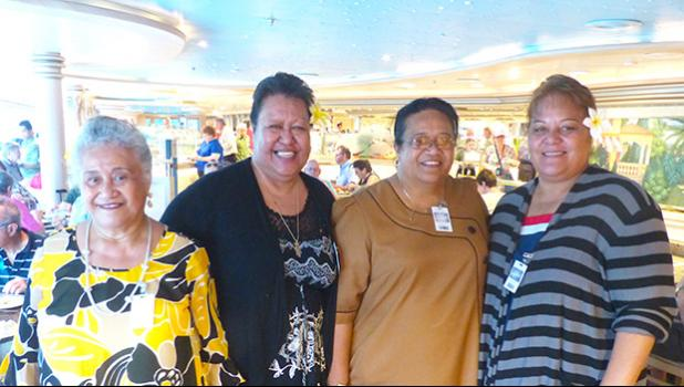 Arts Council executive director Mary Lauagaia Taufete'e (second from right) and some of her friends