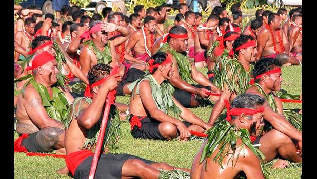 A group of Samoan matai pre-Covid