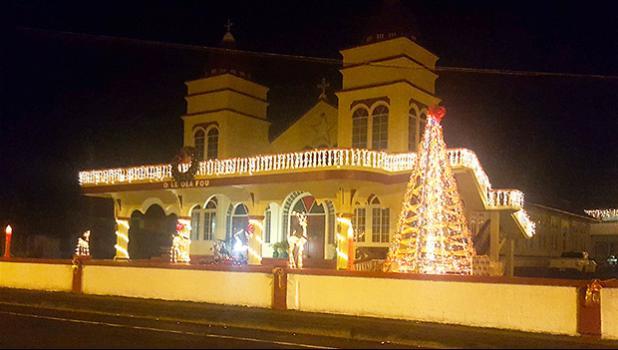 Christmas lights at CCCAS in Matu'u