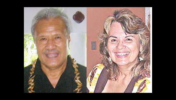 Paramount Chief Mauga and Mary Anderson  [SN file photos]