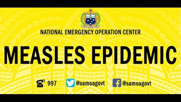Measles epidemic logo