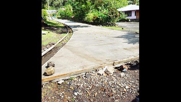 Road work at Mesepa