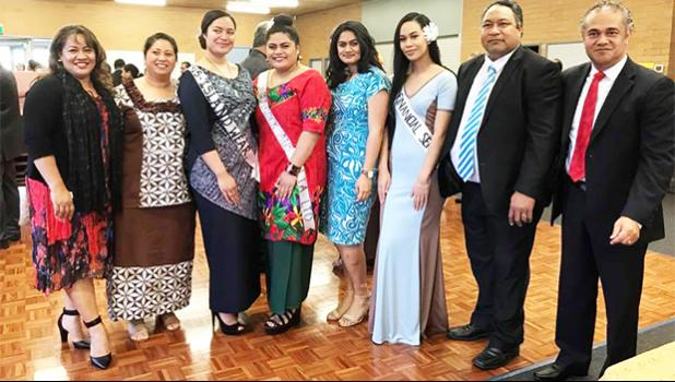 A few of the Miss Samoa Victoria 2017 contestants with Pulotu Canada McCarthy (far right). [Photo/ Facebook: Miss Samoa Victoria Beauty Pageant]