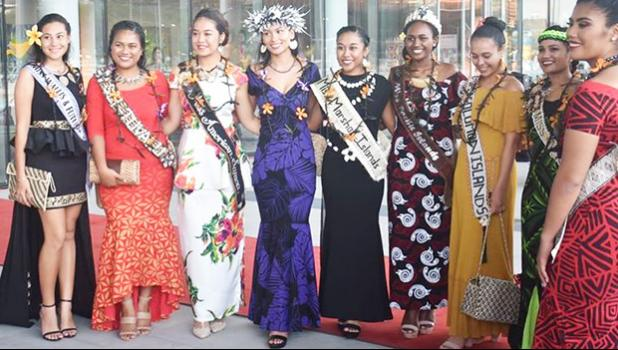 Some of the beautiful contestants from across the region