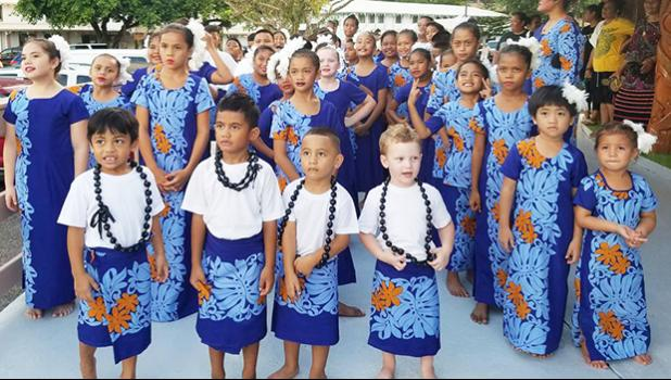 American Samoan children celebrate Flag Day