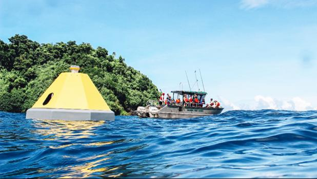 NOAA and partners launch a new buoy in Fagatele Bay