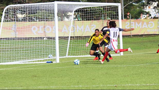 American Samoa men's national team goalkeeper, and captain in action