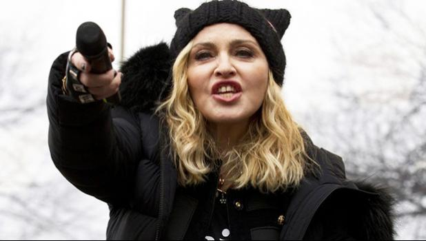 In this Saturday, Jan. 21, 2017 file photo, Madonna performs during the Women's March on Washington.
