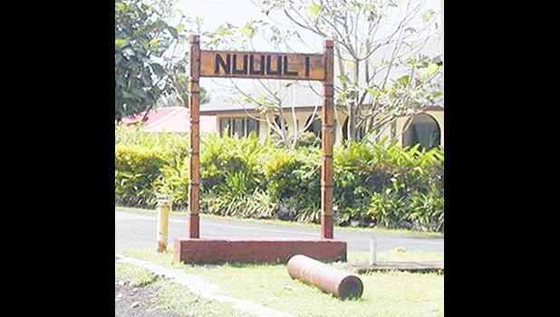 Nu'uuli village sign