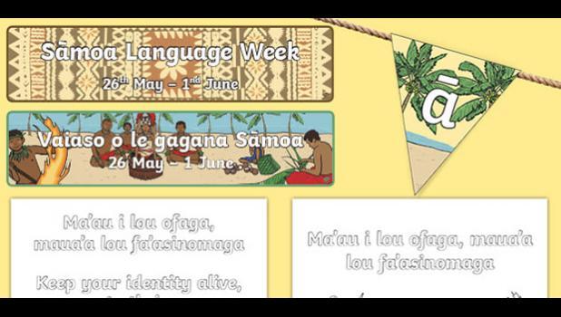 Samoan language poster