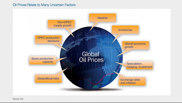 Fuel price graphic showing the many factors that affect prices