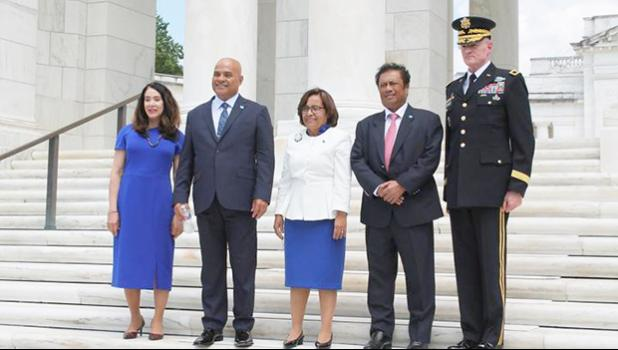 The Pacific delegation in Washington DC