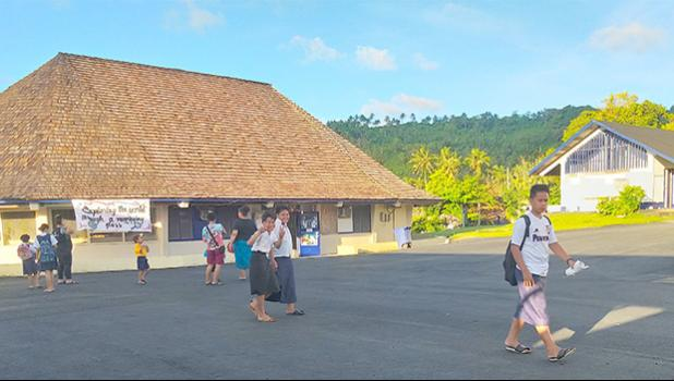 New paved area aroound Pava'ia'i Elementary School