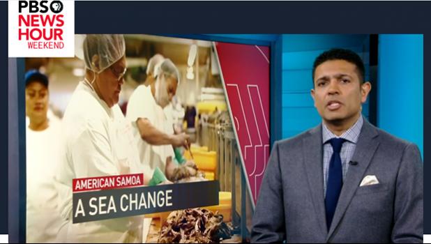 Screenshot from PBS New Hour Weekend