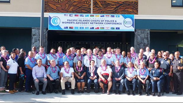 Some of the delegates attending this year's Pacific Islands Chiefs of Police (PICP) & Women's Advisory Network (WAN) Conference hosted by American Samoa.