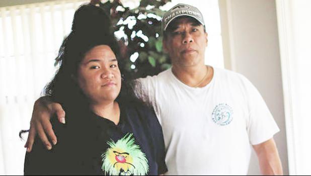 Ilalio Polevia and daughter Rita,