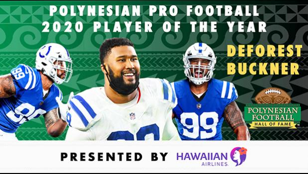 Polynesian Football Hall of Fame graphic of DeForest Buckner
