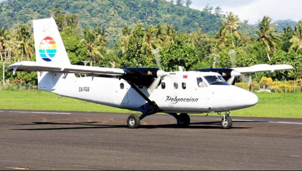 A Polynesian Airlines Twin Otter aircraft at Fagali'i Airport in