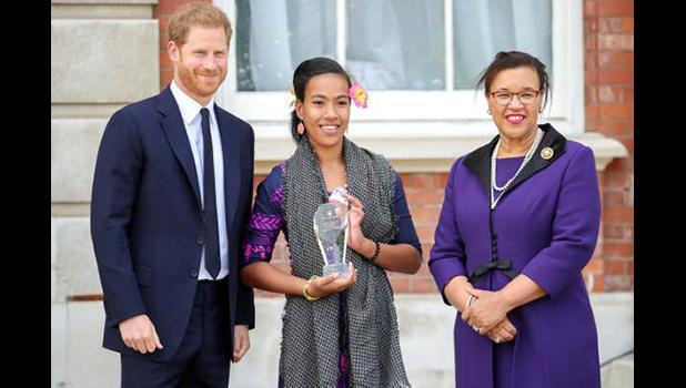 Prince Harry and Leilua Lino