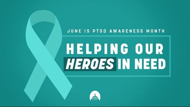 PTSD Awareness Month banner